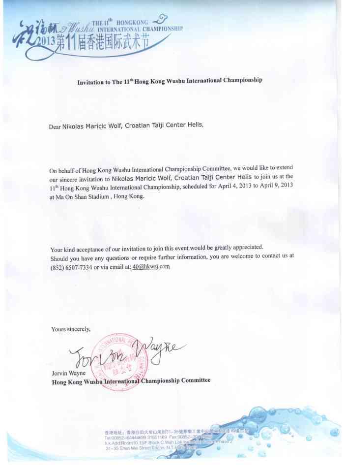 official invitation Nikolas