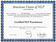 certificate NLP Nikola Maricic